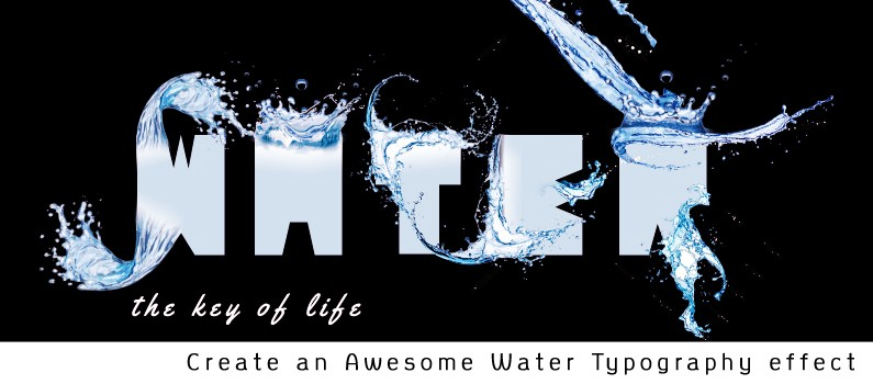 How to Create an Awesome Water Typography Effect using Adobe Illustrator & Adobe Photoshop