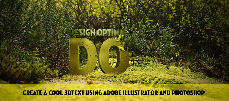 How to Create a Cool 3D TEXT using Adobe Illustrator and Photoshop