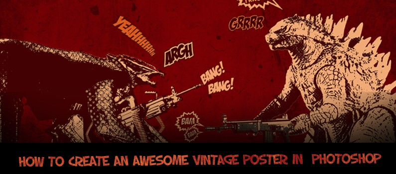 How to Create a Cool Vintage poster using Adobe Photoshop