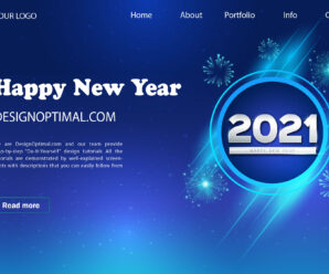 How to Create New Year Landing Page in Adobe Illustrator